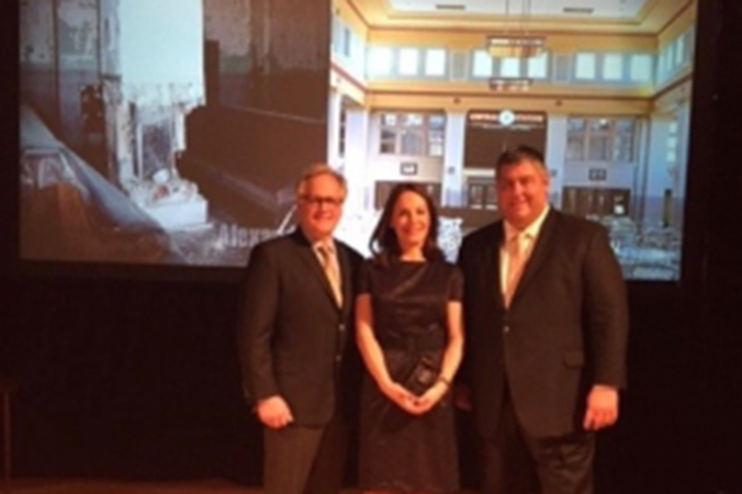 Jim Pientka Accepts 2015 Driehaus Preservation Award On Behalf Of Iconica