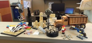 Building toys on desk