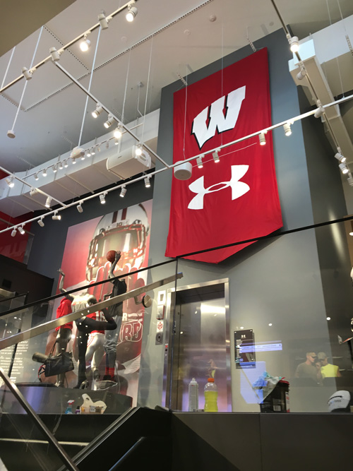 Inside Under Armour store in Madison Wisconsin