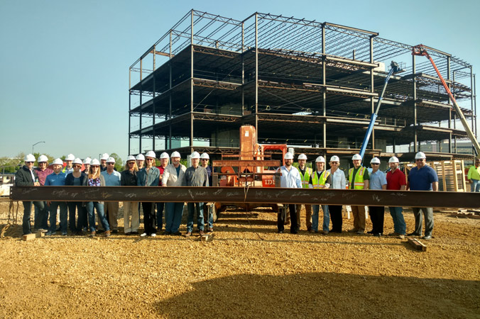 Iconica's Crew Topping Off The Sauk Trails Plaza II