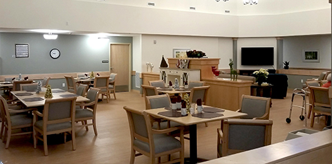 Aster Memory care dinning room