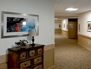 Aster memory care hallway