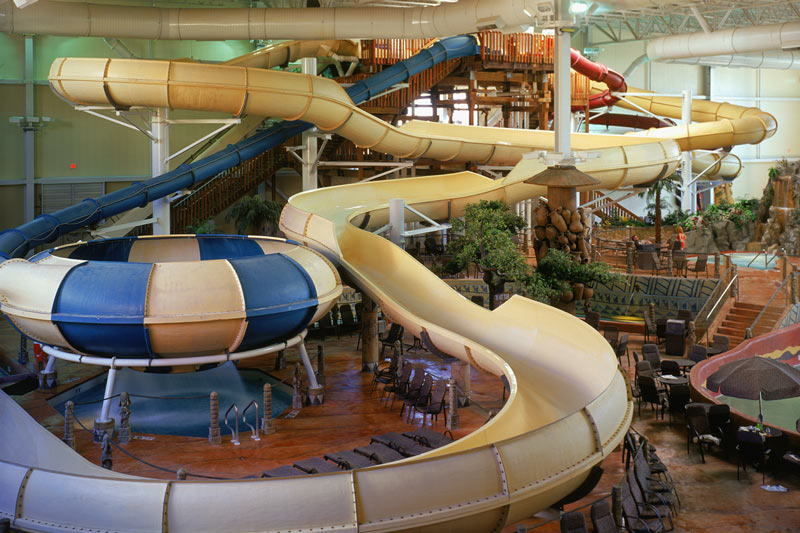 Kalahari Resort Wisconsin Dells slides