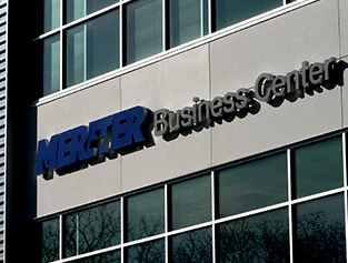 Meriter Business Center sign on 2650 Novation Parkway