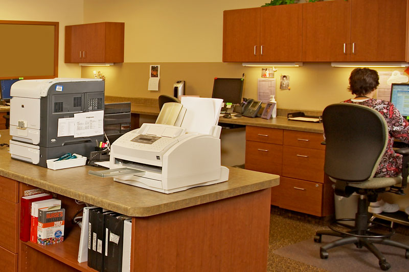 UW Health Clinic nurses station