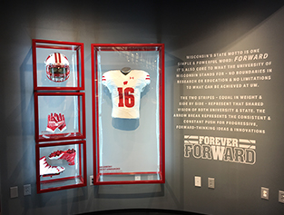 Under Armour badger display cases