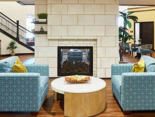 Sitting area in Wright House Senior Living